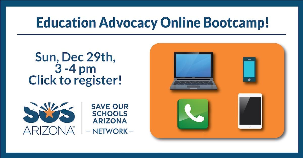 Education Advocacy Online Bootcamp, Sun, Dec 29, 3-4pm
