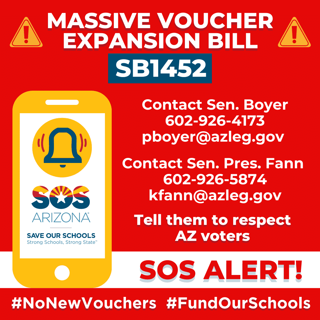 Massive voucher Expansion SB1452 See this week's weekly repot for more