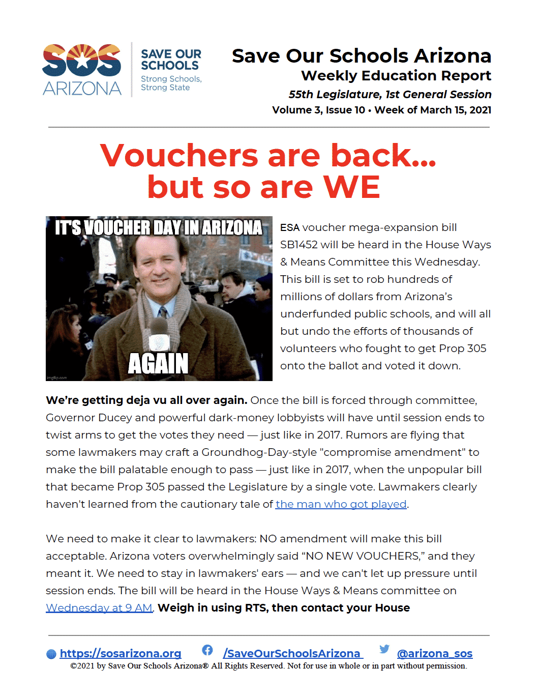 3/15/21 Vouchers are back... but so are WE