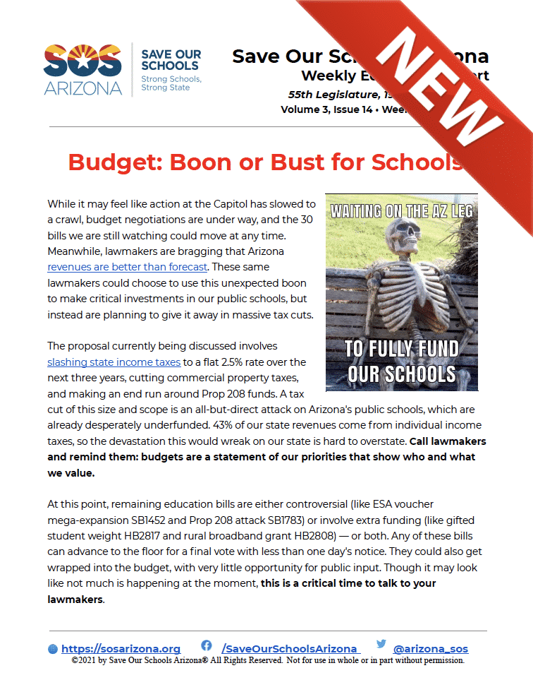 4/12/21 - Budget: Boon or Bust for Schools?