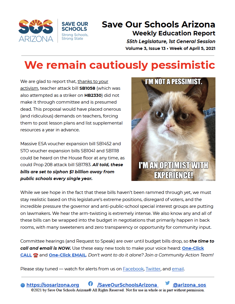 4/5/21 - We Remain Cautiously Pessimistic