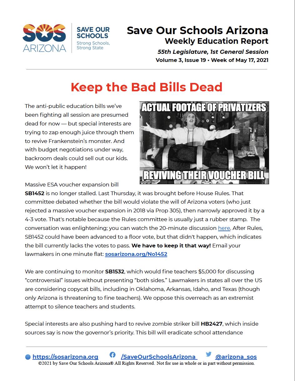 Keep the Bad Bills Dead