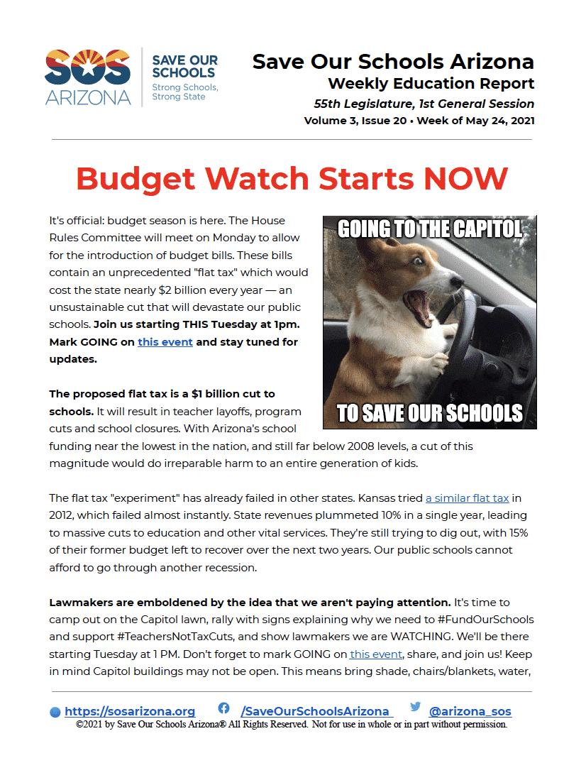 Budget Watch Starts Now 5/24/21