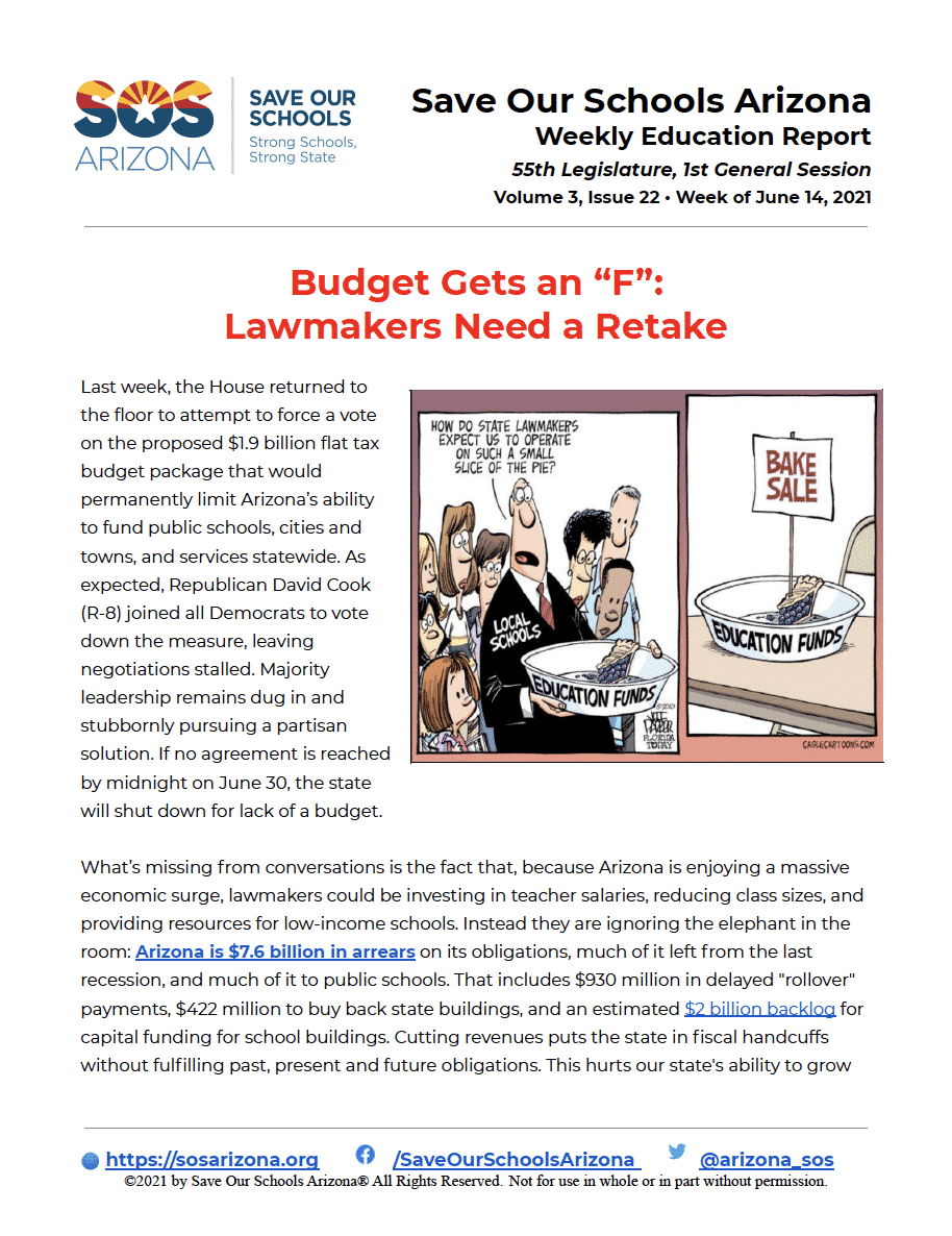 6/14/21 Budget gets an F; Lawmakers need a retake